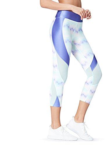 Activewear Leggings Deportivos Mujer , Azul (Blue), 40 (Talla del Fabricante: Medium)