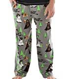 Lazy One Animal Pajama Pants for Men, Men's Separate Bottoms, Lounge Pants, Funny, Humorous, Moose, Bear, Beaver (May The Forest Be with You, Medium)