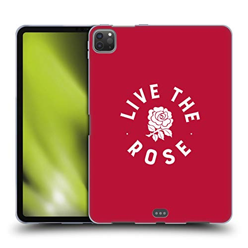 Head Case Designs Officially Licensed England Rugby Union Live The Rose 2016/17 The Rose Soft Gel Case Compatible with Apple iPad Pro 11 (2020)