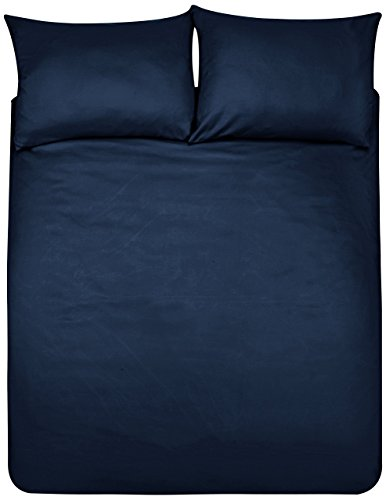 Amazon Basics Duvet Set, Blu Navy, 200cmx200cm/ 50cmx80cmx2