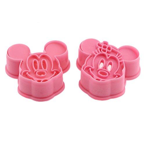 decolordulce Mickey Minnie Mouse Keksausstecher und Kugelablage Keks ABS, Pink, 25x 10x 3cm