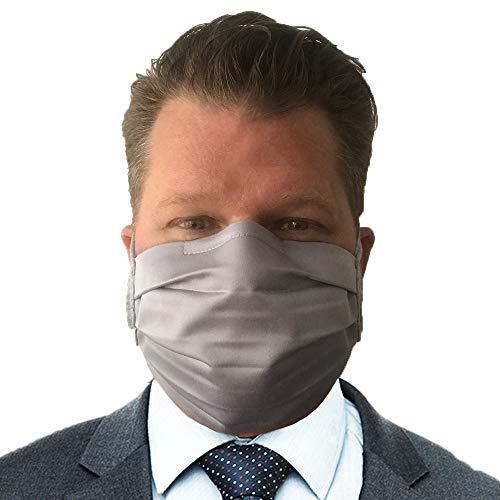 airilus Falten Business Maske, Gesichtsmaske, 2 Stück Größe M, Farbe Blau-Weiß