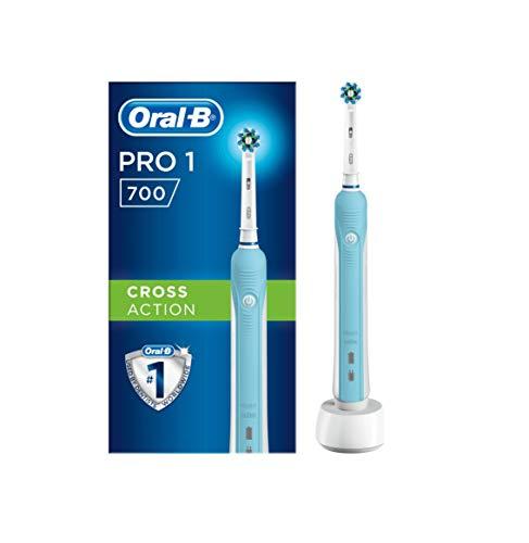 Oral-B Pro700 Vitality elektronische Zahnbürste, mit Crossaction Aufsteckbürste