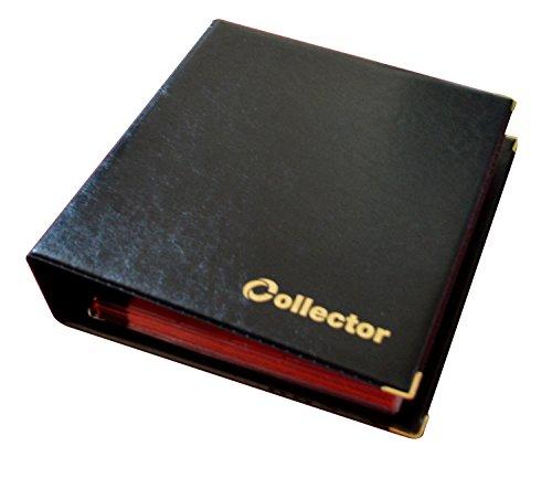 COLLECTOR Album di MONETE da Collezione, per monete di varie dimensioni - con diverse pagine munite di divisori con elenco Album per 300 monete NERO