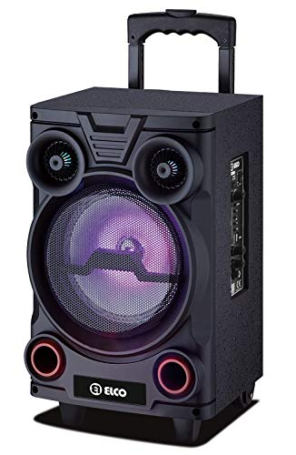 Elco - PDT-1823, Altavoz Trolley con Ruedas Y Función Karaoke, 40W, Display Led, Bluetooth, Lector Micro-SD/USB, Mando a Distancia, Batería 1500mAh, Micrófono Inalámbrico Incluido.