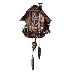 Schneider 12 Quartz Cuckoo Clock with Owl and Squirrel
