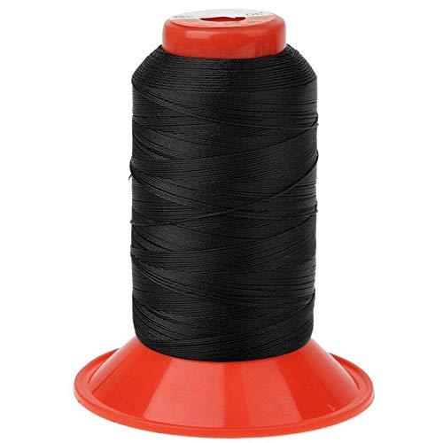 1 Rolle Nylon Nähgarn 500 Meter stark gebondet Nylon Nähgarn Schnur für Zelt Rucksack schwarz