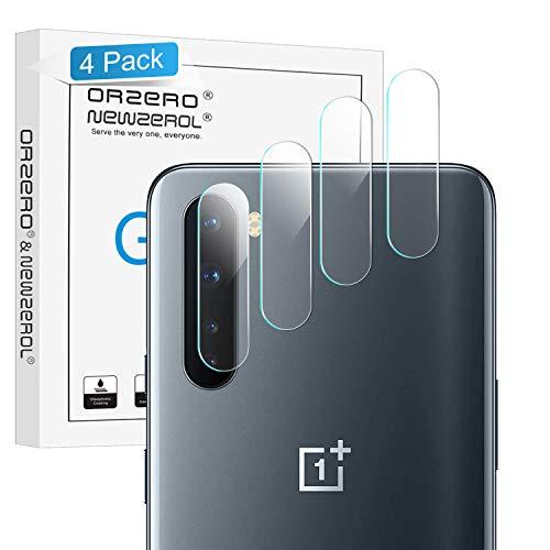 NEWZEROL 4 stück Kompatibel für OnePlus Nord 5G Kamera Flexibles Glas 2.5D Arc Edge 9 Härte High Definition Kameraschutz Flexibles Glas für OnePlus Nord 5G
