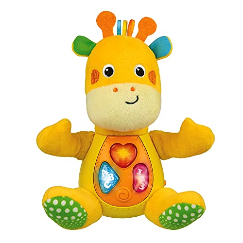 KiddoLab Sing 'N Learn with Me Plush Giraffe - Musical Stuffed Animals with 3 Light-Up Buttons, 4 Children's Nursery Songs & Sound Effects - Soft Learning Toy for Babies & Toddlers