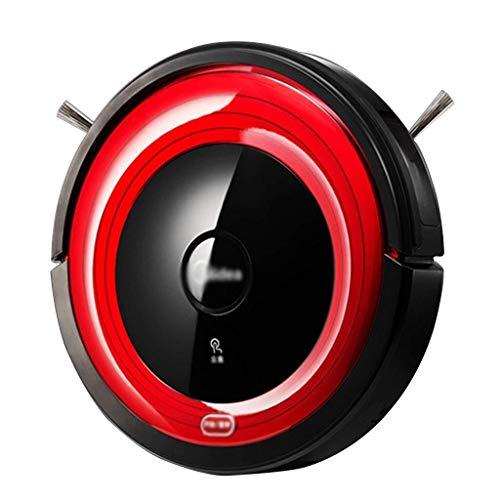 Aspirador robot Aspiradora robot aspirador de la robusteza Inicio automático de barrido Oficina robot robot aspirador de Hoover (Color: Rojo, Tamaño: 30 * 30 * 7.8cm)