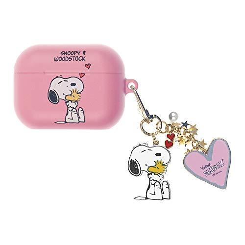 Peanuts Snoopy ピーナッツ スヌーピー AirPods Pro と互換性があります ケース スヌーピー キーホルダー エアーポッズ プロ 用 ケース 硬い スリム ハード カバー (ハッピー スヌーピー 抱擁) [並行輸入品]