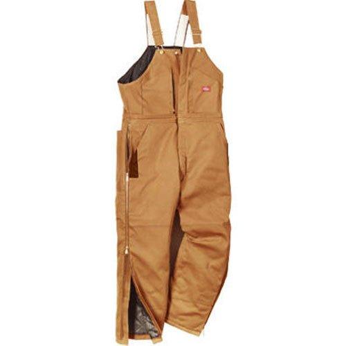 Dickies Men's Big-Tall Premium Insulated Duck Bib All, Brown Duck, 2X/Tall