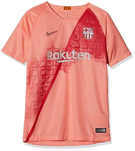 Nike FCB Y NK BRT STAD JSY SS 3R T-Shirt Enfant lt Atomic Pink/Silver FR : L (Taille Fabricant : L)