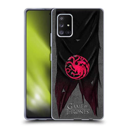 Head Case Designs Officially Licensed HBO Game of Thrones Targaryen Sigil Flags Soft Gel Case Compatible with Samsung Galaxy A51 5G (2020)