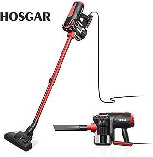 Corded Vacuum Cleaner, HOSGAR 17KPa Strong Suction Stick Vacuum 3 in 1 Handheld Vacuum for Hard Floor, V1