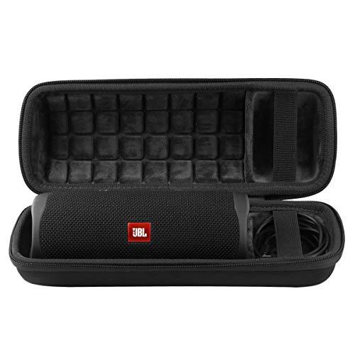 co2CREA Hart Reise Schutz Hülle Etui Tasche für JBL FLIP 5 mobiler Bluetooth Lautsprecher (External Black,Interior Black)