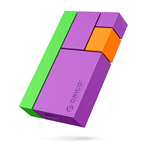 ORICO SSD Esterno Portatile Ultra-Mini 1TB Lettura/scrittura Fino a 540MB/s Hard Disk Portatile Extreme SSD Tipo-C USB3.1 GEN2 per Vlog Blogger,Fotografi,Appassionati di Giochi e Altro(CN300 Viola)