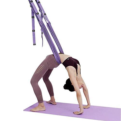 Ubrand OYINDIZ Yoga Swing, Yoga Trapeze Stretching Equipment Leg Stretcher Strap Door Backbend Assist Trainer, Aerial Yoga Door Swing Adjustable Strap Door Stretch Strap for Flexibility (Purple)