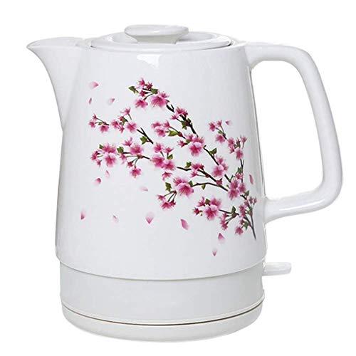Gymqian Küche Wasserkocher Elektrische Ceramic White Kettle Teekanne-Retro Automatic Power Off Quiet Schnellkoch Schnelle Aufheizzeiten Leicht Boiler Für Warmwasser Sicherheit