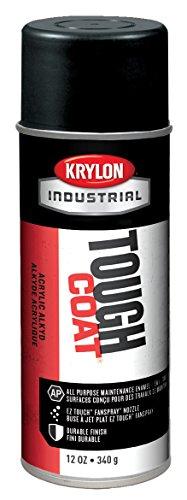 Krylon Products Group 12 Ounce Aerosol Can High Heat Black Krylon Tough Coat Acrylic Enamel Paint (Set of 12/EA)