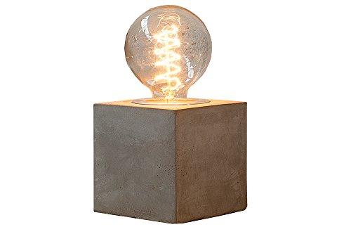DuNord Design tafellamp tafellamp B-TONG INDUSTRIAL beton design nachtkastje lamp grijs