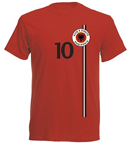 Albanien Kinder T-Shirt Trikot St-1 EM 2016 - rot Albania Kids Kind (164)