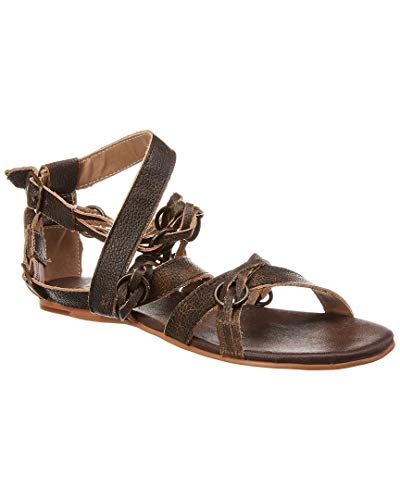 ROAN by Bed Stu Women's Leather Sandals Gretch (Black, numeric_8_point_5)