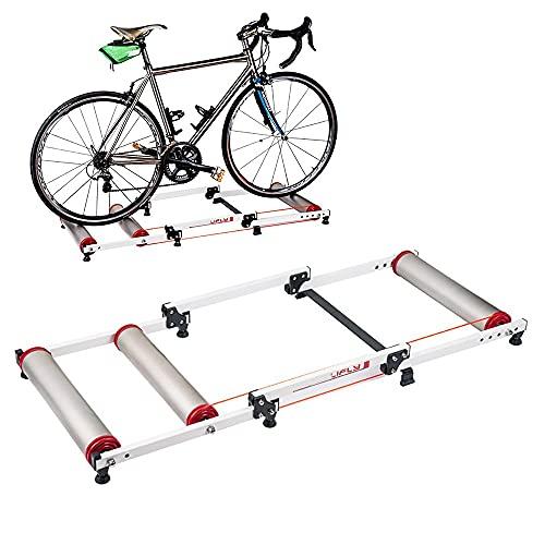 NAINAIWANG Rodillo de Rulos para Bicicleta Entrenamiento Bicicletas Ajustable para Interior Fitness Ciclismo Soporte parabólico magnética para Ejercicios con Resistencia para MTB Carretera
