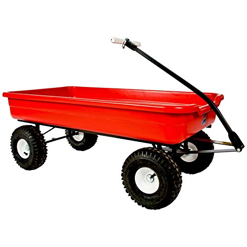 Buy Discount Dirt King 45.5 in. Steel Pull Wagon in Red (Red)