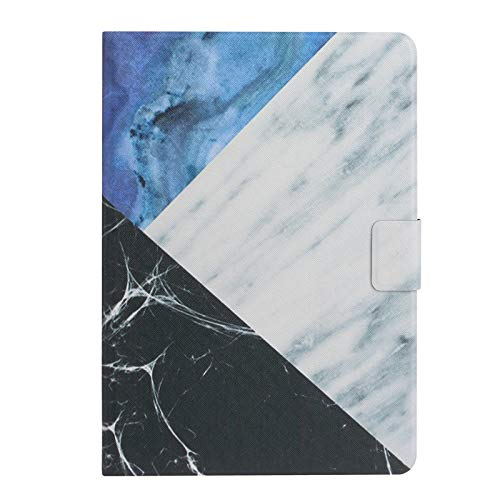 JIan Ying Case for Samsung Galaxy Tab E 9.6' SM-T560 SM-T561 Fashion Lightweight Protective Cover Blue white splicing