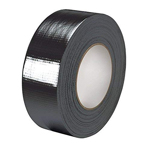 Gocableties - Nastro isolante telato di prima qualità, nero, 48 mm x 50 m, resistente, con spessore di 0,18 mm