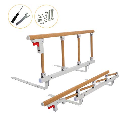 Bed Rail Safety Assist Handle Bed Railing for Elderly & Seniors, Adults,...