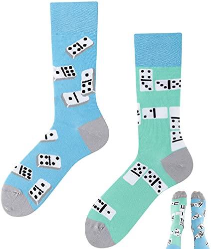 TODO Colours Lustige Socken mit Motiv - Mehrfarbige, Bunte, Verrückte für die Lebensfreude (39-42, Domino, numeric_39)