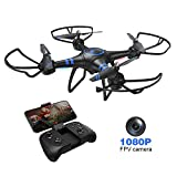 AKASO A31 Quadcopter Drone with Camera, Bright LED,FPV WiFi ...