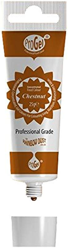 Rainbow Dust CHESTNUT BROWN ProGel Icing Colour Paste Gel Food Cake Colouring