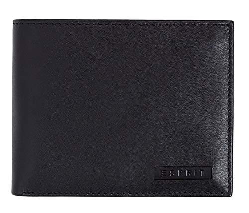 Esprit Accessoires Herren Foc Horizontal Geldbörse, Schwarz (Black), 2x9,5x12 cm