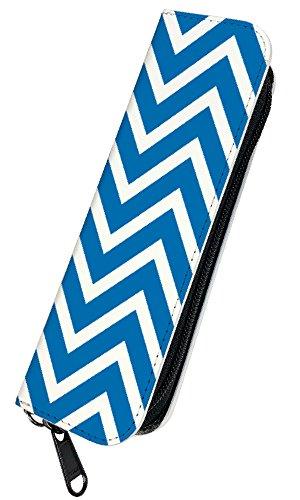 [PLOOMTECH JT-03S] プルームテック 電子タバコ ケース カバー ラウンドファスナー A. 山形模様ブルー 青 シンプル かわいい