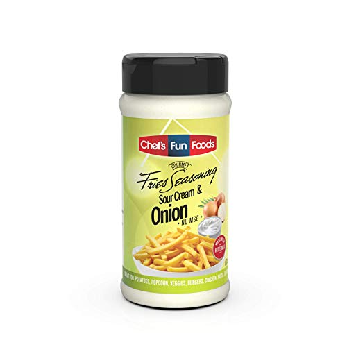 Gourmet Fries Seasonings Bottle, Sour Cream and Onion, Sour Cream & Onion, 9 Ounce