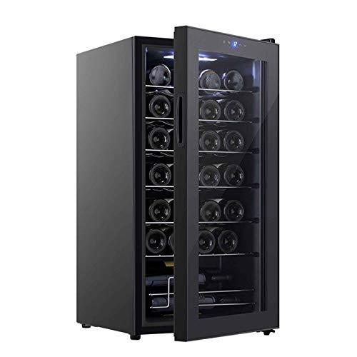Nevera De Vinos, Refrigerador Bebidas, Temperatura Regulable Entre 11 Y 18 °C con Iluminación LED para Bebidas Enlatadas, Refrescos Cerveza O Vino(Capacidad: 28 Botellas)