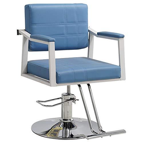 Sillas Barbero Silla Peluquería Hidráulica PU Cuero Silla Peluquería Hydraulic Barber Chair Belleza,Azul