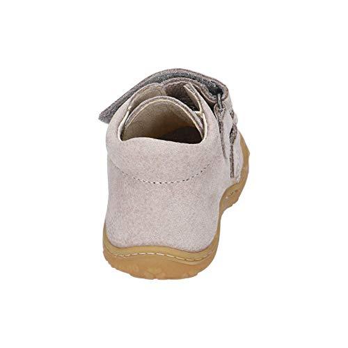 RICOSTA Unisex - Kinder Lauflern Schuhe Chrisy von Pepino, Weite: Weit (WMS), Halbschuh mit Klettverschluss leicht Kids,kies,26 EU / 8 Child UK