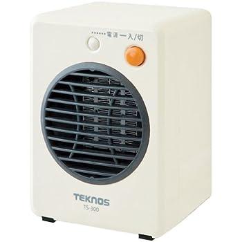 TEKNOS モバイルセラミックヒーター ホワイト TS-300