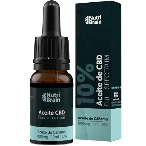 CBD | Aceite de cáñamo 10% (1000mg) | Full Spectrum | Fórmula 100% natural | Espectro Completo