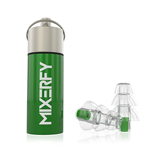 Mixerfy Earplugs Noise Protection For Concerts, Musicians - FREE CORDS, CASE, GIFT with Each...