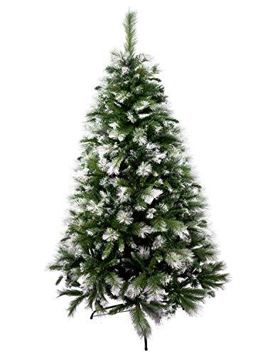 Árbol de Navidad Artificial de Pino Maxi-Relleno Arboles Desmontable C/Soporte Metálico 150-240cm (Verde Desmontable, 180cm 690Tips)