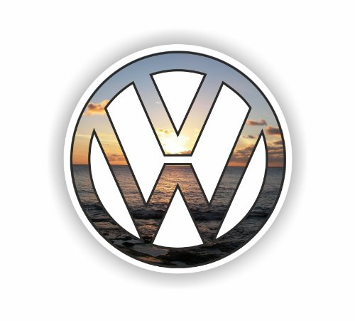 Sea View Stickers VW Sunset Logo Auto Van Aufkleber