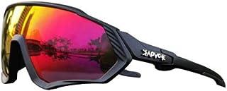 Remifa Gafas de sol deportivas originales KAPVOE TR90 para hombres y mujeres, nuevas gafas de ciclismo fotocromáticas polarizadas, 12 colores (A02)