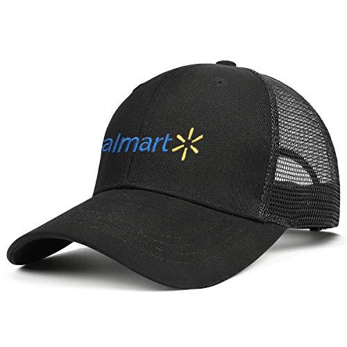 Mesh Baseball Cap Walmart Inc. Adjustable Snapback Caps Trucker Sun Hats Golf Sports Cap Dad Fishing Hat for Men Women