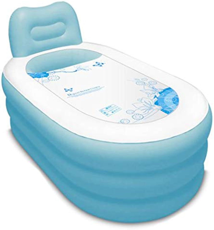 Aufblasbare badewanne für Kinder gro Aufblasbare Badewanne, Plastikbadfa-Erwachsene Wanne, die das Verdickungs-Baden-Pool faltet - Blau (gre   130cm70cm)