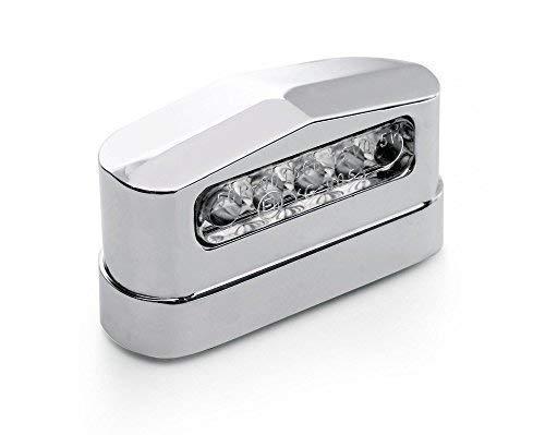 Kennzeichenbeleuchtung LED Metall Prisma Chrom